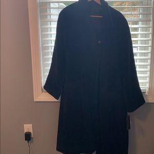 Long black wool coat